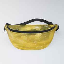Whimsical Gold Glowing Christmas Sparkles Bokeh Festive Holiday Art Fanny Pack