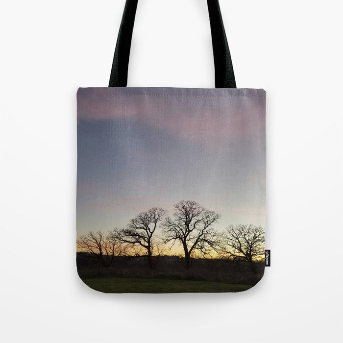 Autumn Sunset Silhouette - Pheasant Branch Conservancy Tote Bag