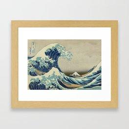 Ukiyo-e, Under the Wave off Kanagawa, Katsushika Hokusai Framed Art Print
