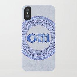 Blue Om iPhone Case