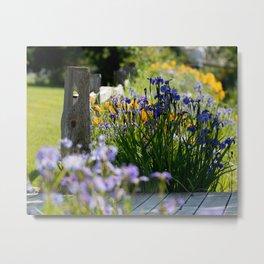 Georgeson Botanical Gardens, Fairbanks Alaska, Iris and Lilies Metal Print