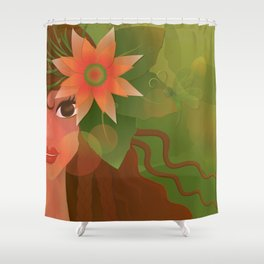 The Forest Girl Shower Curtain