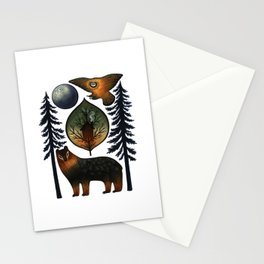 The Bear and the Barn Owl Stationery Cards