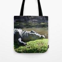crocodile Tote Bags featuring Crocodile by Georgia