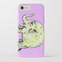 baby elephant iPhone & iPod Cases featuring Baby Elephant by Tara Put