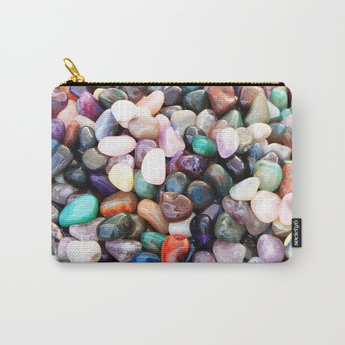 Polished Coloured Gemstones Carry-All Pouch
