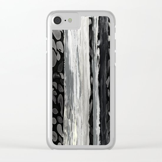 Rainbow Eucalyptus Graffiti artist tree from shedding bark South Pacific Night Time Moon Shadows Clear iPhone Case
