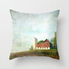 Rural Morning Throw Pillow
