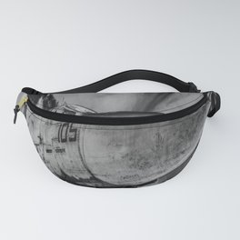 Military Fighter Jet Aircraft Black And White Print Fanny Pack