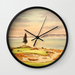 Chambers Bay Golf Course 15th Hole Wall Clock