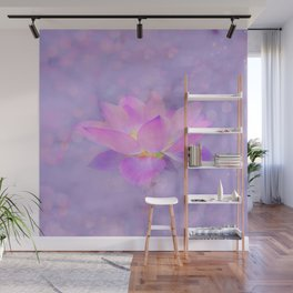 Lotus Emerging from the Water Wall Mural