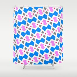 Zigzag Diamond Interlock Shower Curtain
