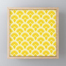 Fan Pattern Yellow 201 Framed Mini Art Print