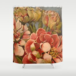 Peonies in Pink Shower Curtain