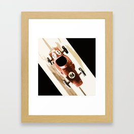 Toy Car on Wooden Track Framed Art Print