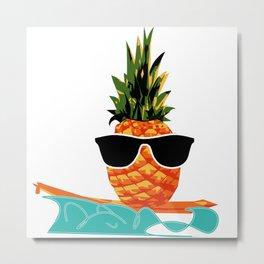 Pineapple on the boat Metal Print