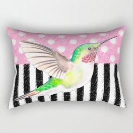 Hummingbird Polka Dot Pink Rectangular Pillow