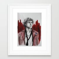 enjolras Framed Art Prints featuring Enjolras by Sallygipsypunk