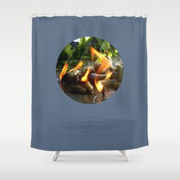 The Trickle Down (This Burning World 4) Shower Curtain