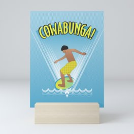 Cowabunga Flow-boarding Pop Art Mini Art Print