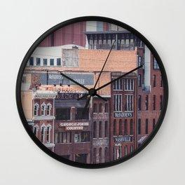 Nashville Riverfront Wall Clock