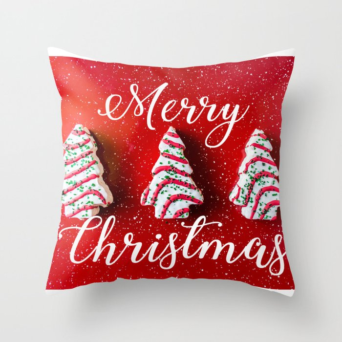 Christmas Baking Throw Pillow