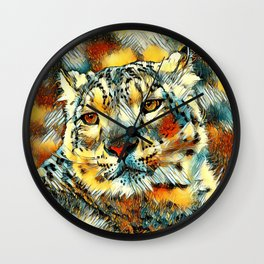 AnimalArt_Leopard_20170602_by_JAMColorsSpecial Wall Clock