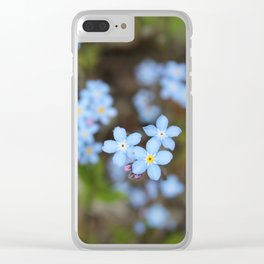 Forget-Me-Nots Three Clear iPhone Case