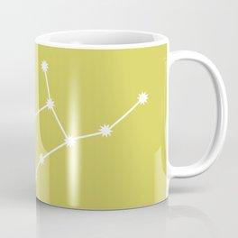 Virgo Zodiac Constellation - Vibrant Green Coffee Mug