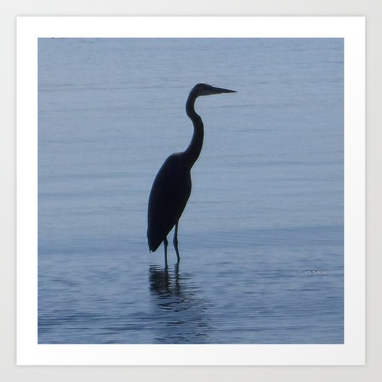 The Blue Heron Art Print