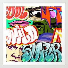 graffity style Art Print