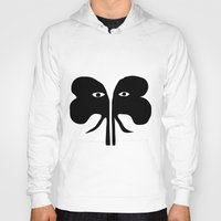 elephants Hoodies featuring Elephants by Alenson Design