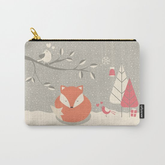 Christmas baby fox 06 Carry-All Pouch