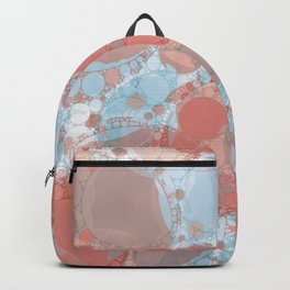 Round And Round Coral Blue Backpack