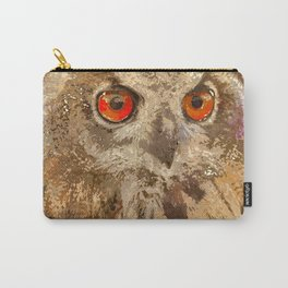 Crazy Paint - Owl Carry-All Pouch