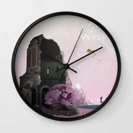 Ancient Ruins Wall Clock
