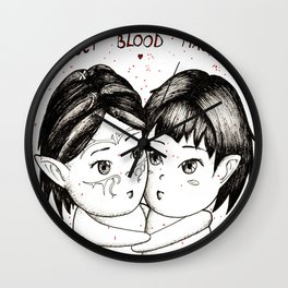 Sweet blood mages Wall Clock