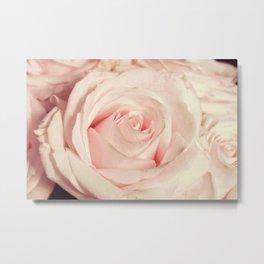 Pink rose photo. Blush flower photography. Botanical feminine decor. Floral Gift for her Metal Print