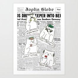 Dictator Cats Art Print