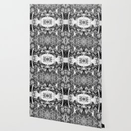 Black n White Boho Pattern Wallpaper