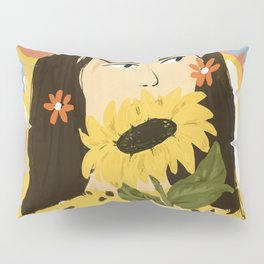Sunflowers In Your Face Pillow Sham