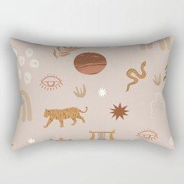 Composition of pretty Doodles #shapeart #digitalart Rectangular Pillow