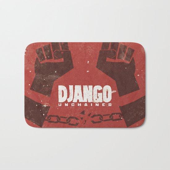 Django Unchained -  Quentin Tarantino Minimal Movie Poster Bath Mat