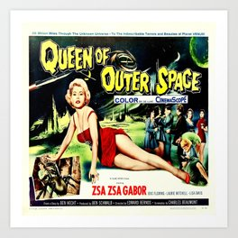 Queen of Outer Space Art Print