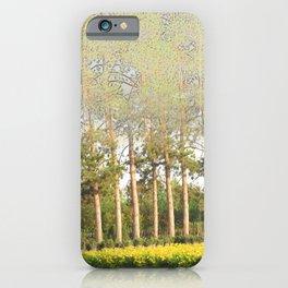 Daylily Stella d'Oro Hemerocallis Landscape Abstract Trees iPhone Case