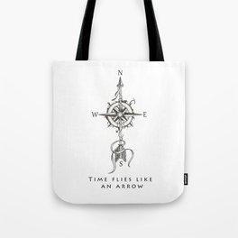 Time flies like an arrow (tattoo style) Tote Bag