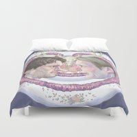 meat Duvet Covers featuring Sweet Meat by Panic Volkushka