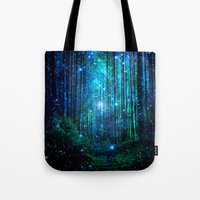 marianna Tote Bags featuring magical path by haroulita