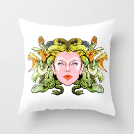 Medusa The Gorgon Throw Pillow