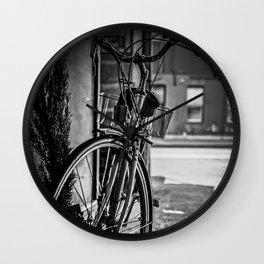 Black and White Bike Wall Clock